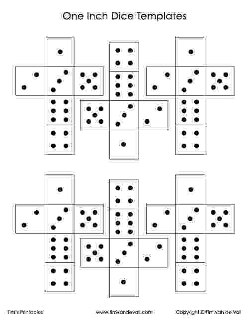 dice print dice pattern cut out print dice