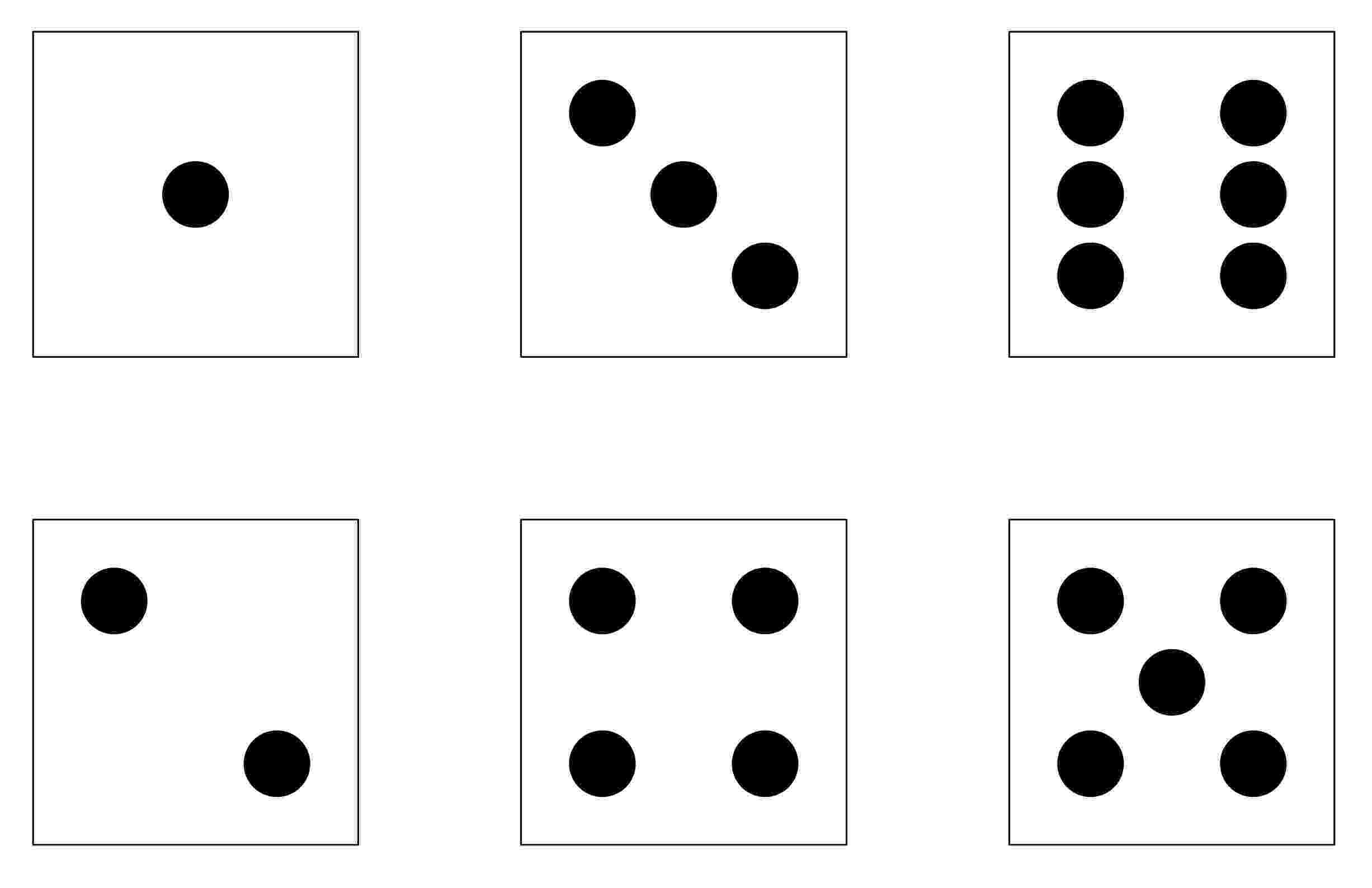 dice print first grade wow subitizing sampler dice print