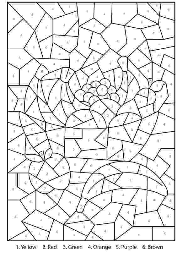 difficult color by number coloring pages for teenagers difficult color by number 01 difficult by number color