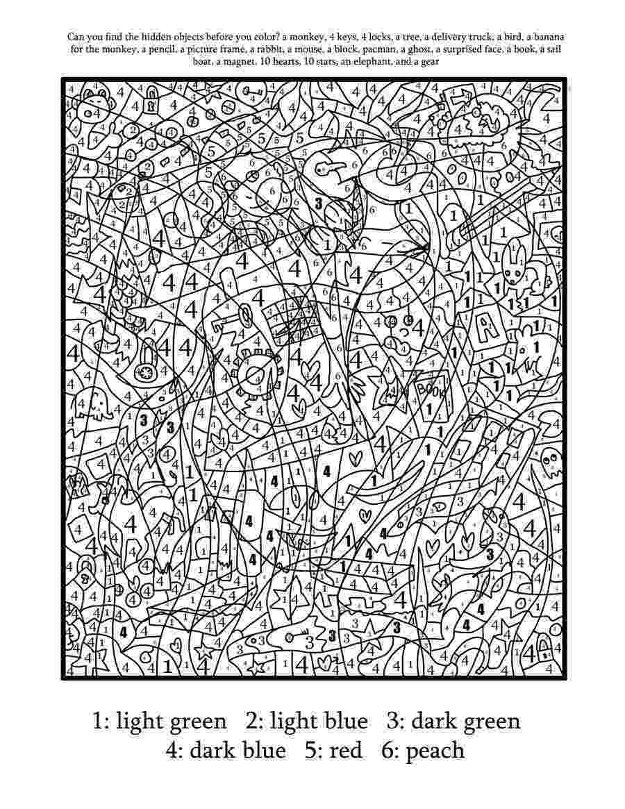 difficult color by number difficult color by number printables coloring home sketch color difficult number by
