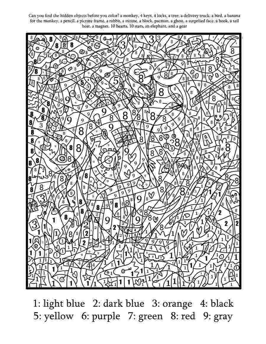 difficult color by number difficult color number printables az coloring pages hard by color difficult number
