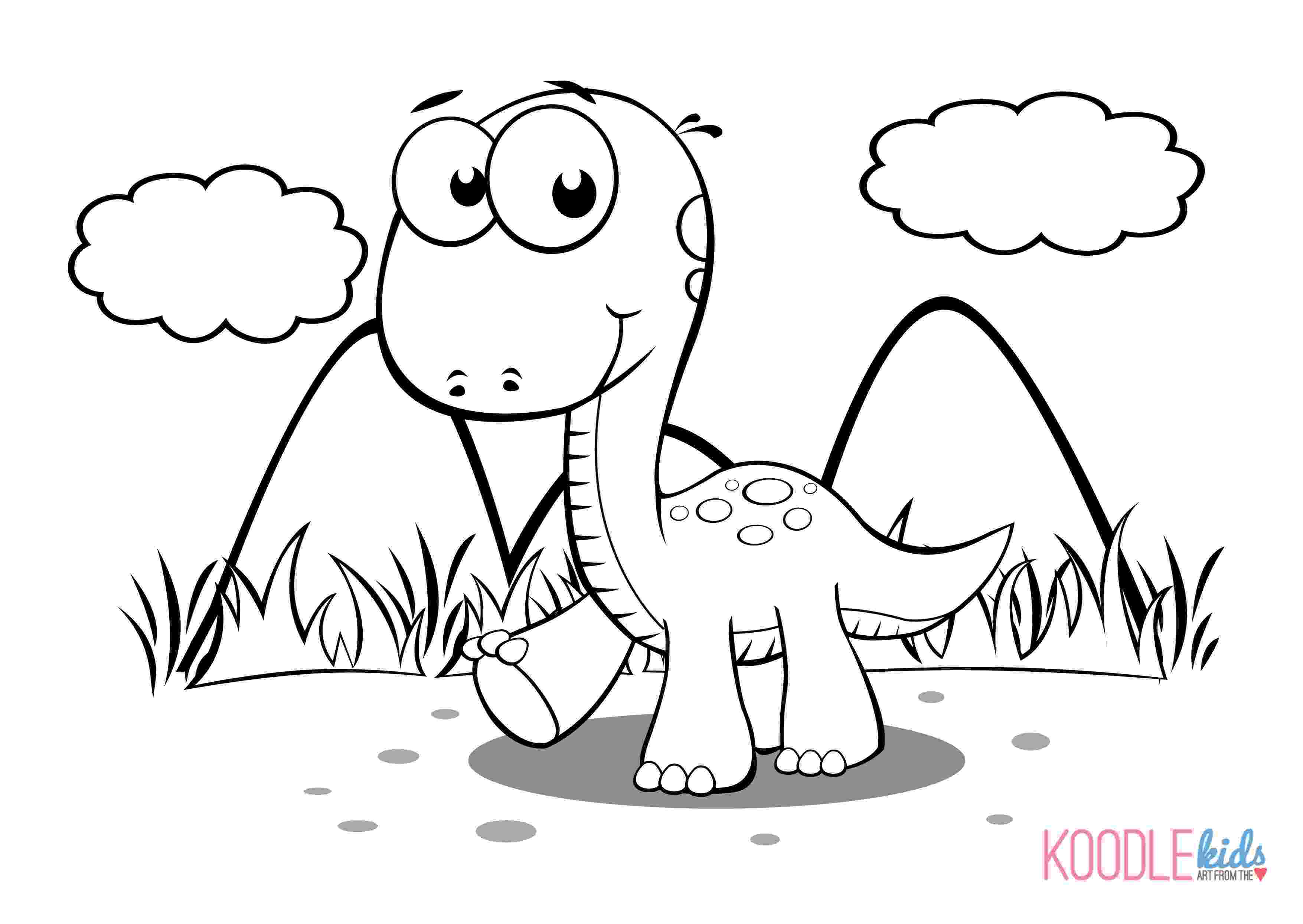 dinosaur color page baby dinosaur coloring pages to download and print for free dinosaur page color