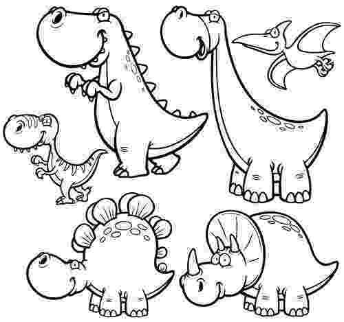 dinosaur color page cute little dinosaur coloring page free printable dinosaur color page