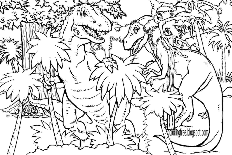 dinosaur color page lets coloring book prehistoric jurassic world dinosaurs dinosaur color page