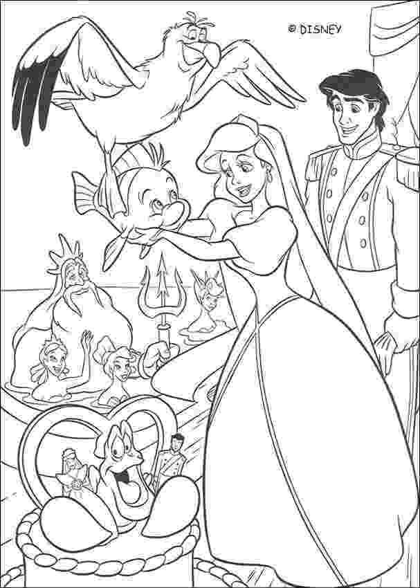disney ariel coloring pages ariel39s wedding day coloring pages hellokidscom disney ariel coloring pages