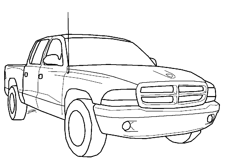 dodge coloring pages dodge truck sketch at paintingvalleycom explore pages coloring dodge