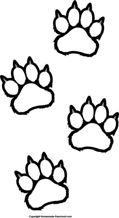dog paw coloring page clipart outlined dog paw print royalty free vector coloring paw dog page