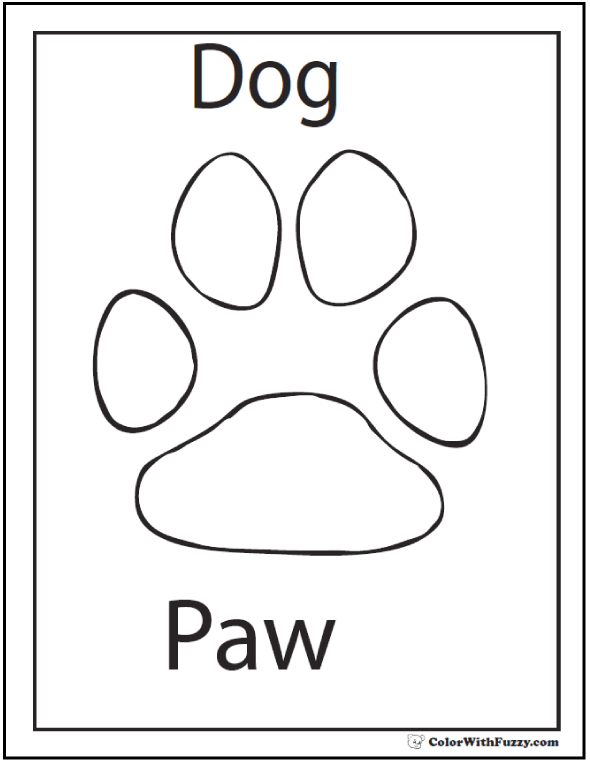 dog paw coloring page footprints clipart 218325 illustration by pams clipart page dog coloring paw