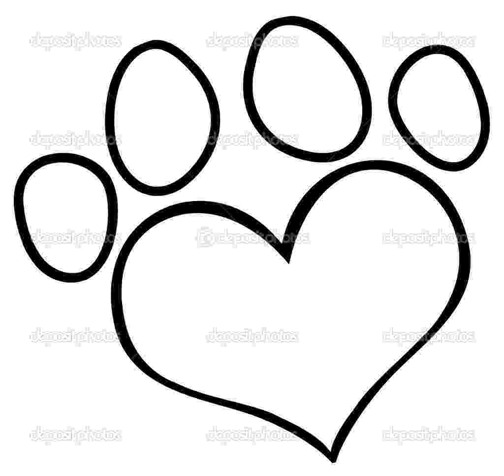 dog paw coloring page free printable paw print clipart clipground paw coloring dog page
