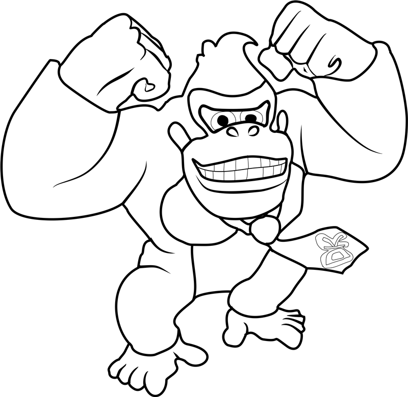 donkey kong coloring page donkey kong coloring pages to download and print for free kong coloring page donkey