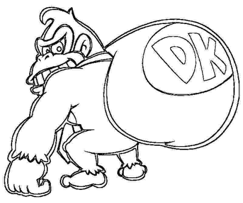 donkey kong coloring page mario bros donkey kong coloring page free printable kong page donkey coloring