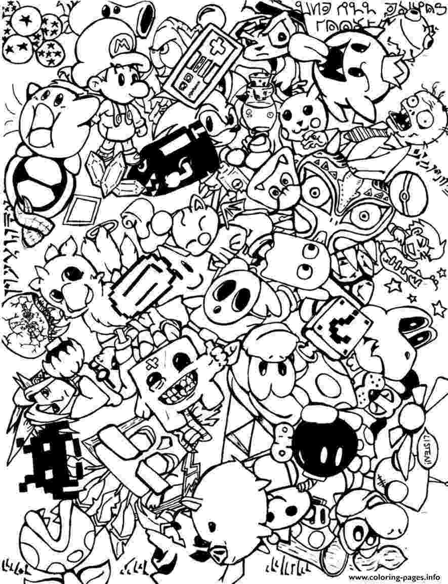 doodle art colouring doodle art to print for free doodle art kids coloring pages colouring art doodle 1 1