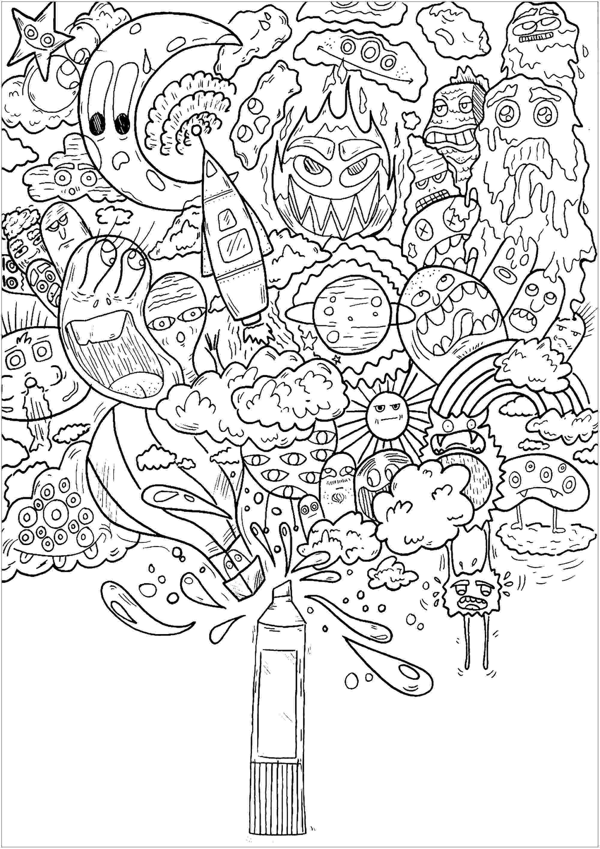doodle art colouring free coloring pages doodle art alley art doodle colouring