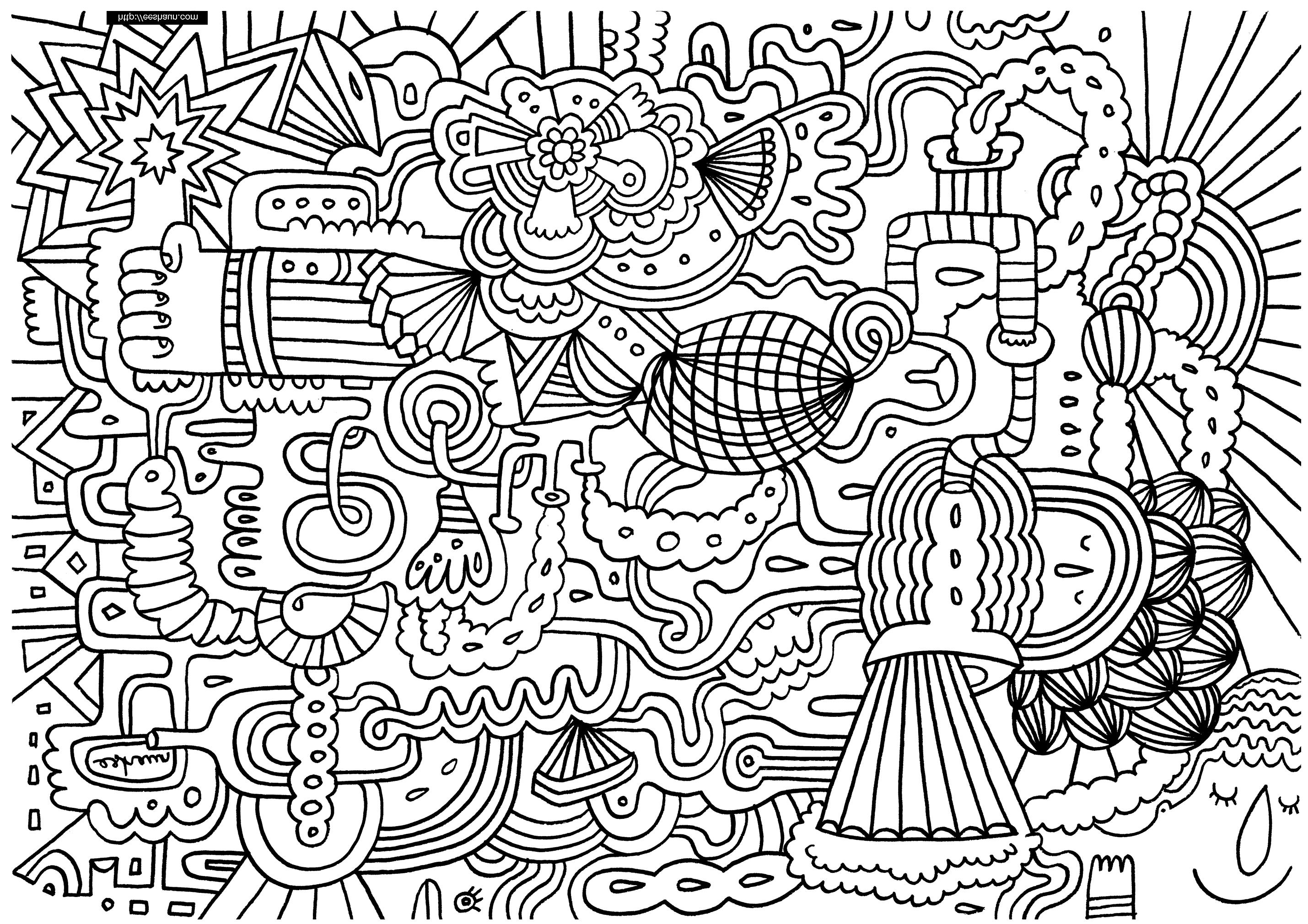 doodle art printables doodle art coloring pages to print free coloring sheets doodle printables art