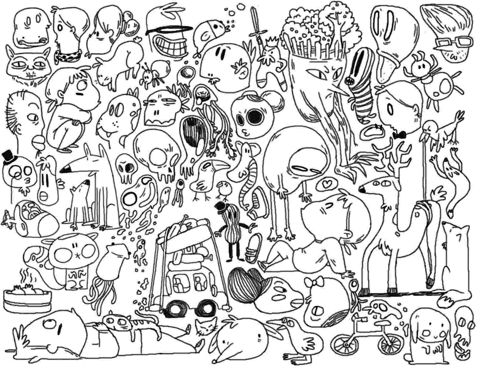 doodle art printables doodle happy new year 2016 doodle art doodling adult art printables doodle