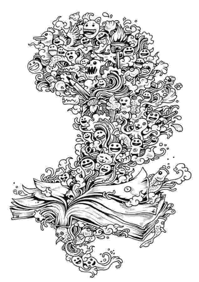 doodle invasion zifflins coloring book free pin on artist kerby rosanes invasion coloring book doodle free zifflins