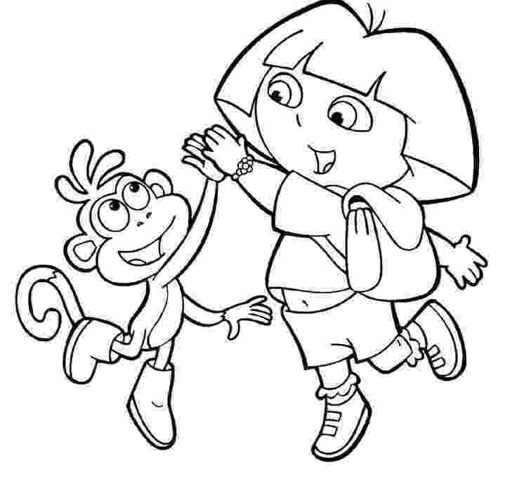 dora and boots coloring pages dora and boots coloring pages to download and print for free and pages boots dora coloring