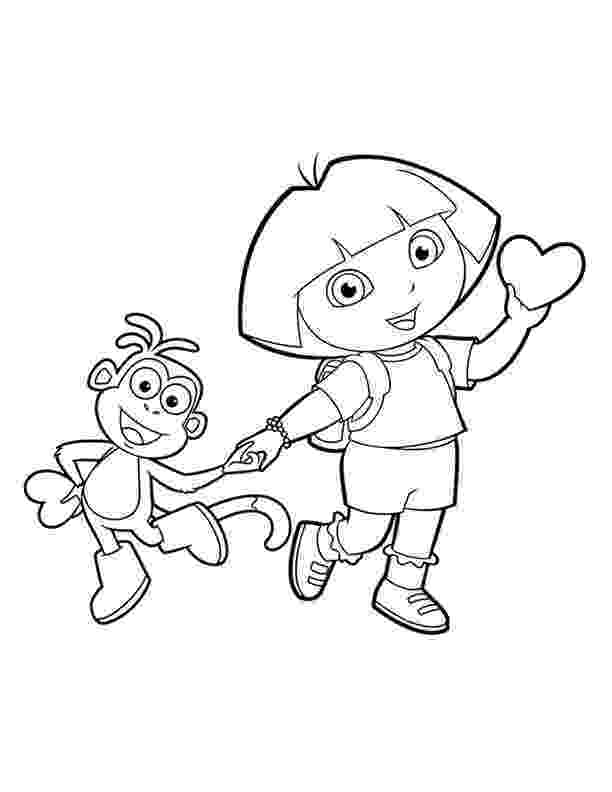 dora and boots coloring pages dora coloring lots of dora coloring pages and printables boots pages and dora coloring
