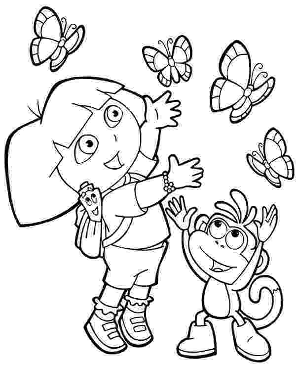 dora and boots coloring pages new printable coloring page with dora and monkey boots coloring boots pages and dora