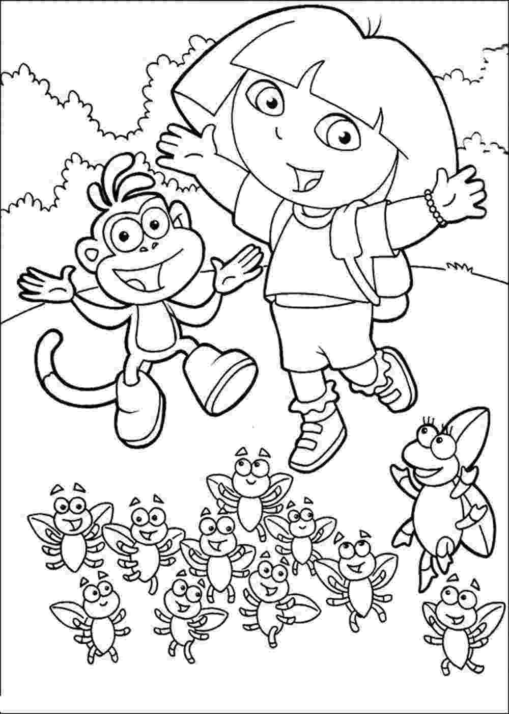dora and boots coloring pages print download dora coloring pages to learn new things boots dora pages and coloring