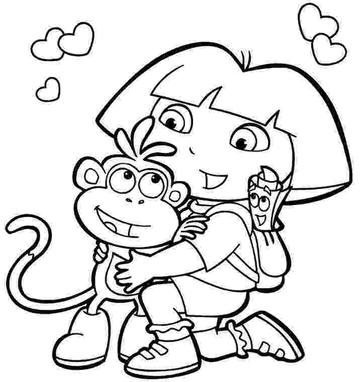dora and boots coloring pages printable dora coloring pages free printable coloring dora pages boots coloring and