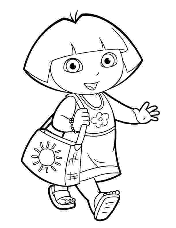 dora color dora and boots coloring pages to download and print for free color dora