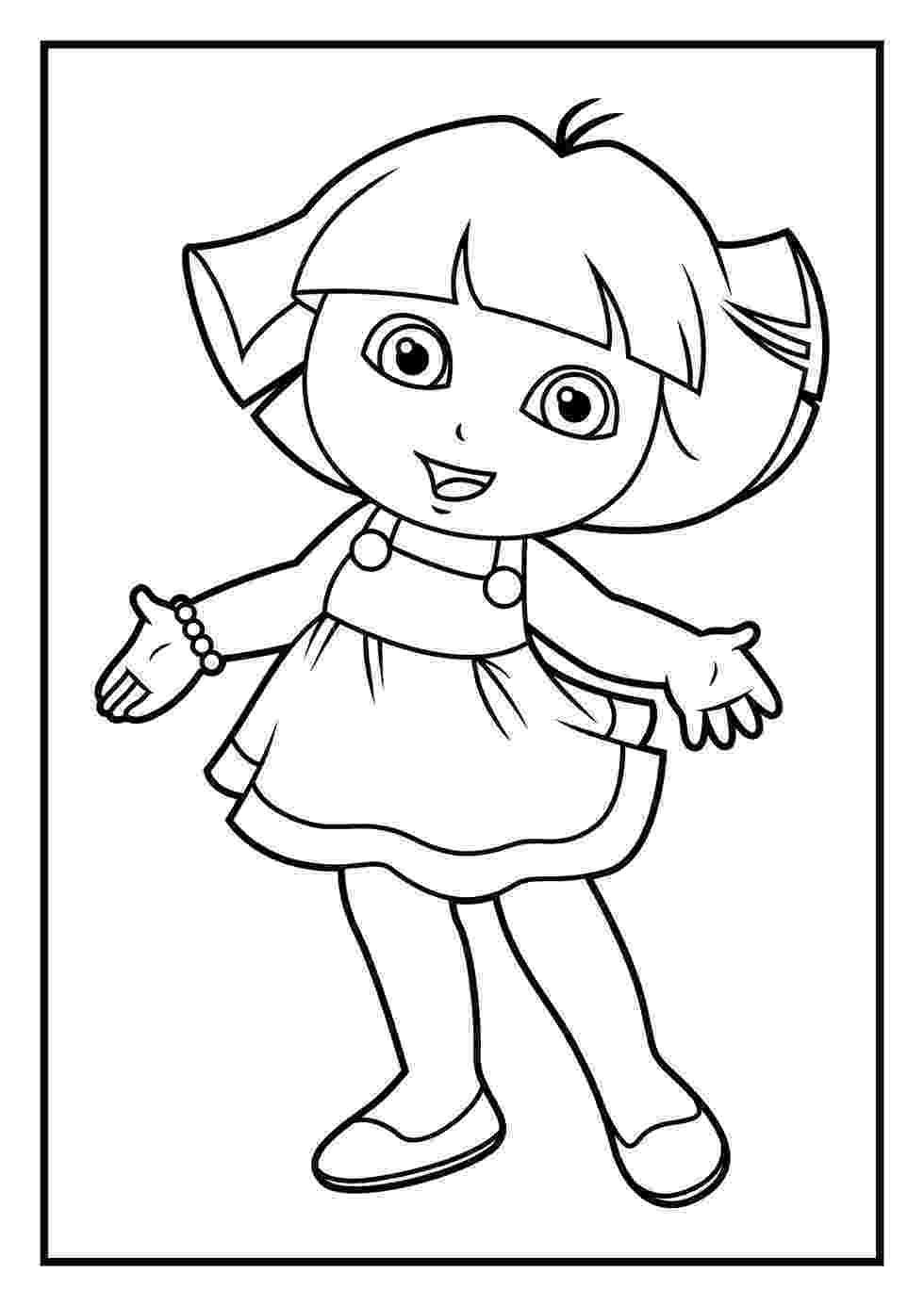 dora color printable dora coloring pages free printable coloring dora color