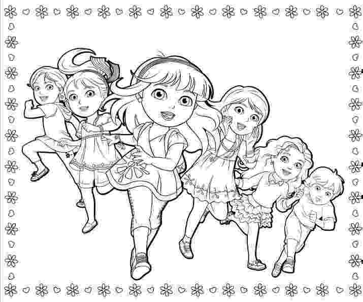 dora free dora and friends coloring pages to download and print for free dora free