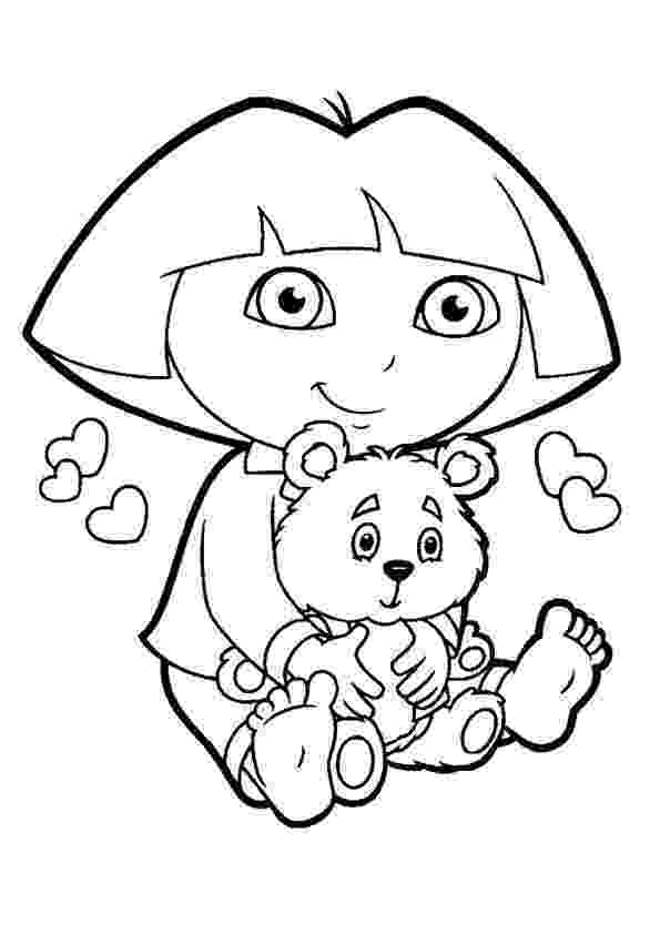 dora free dora coloring pages for kids printable free coloring dora free
