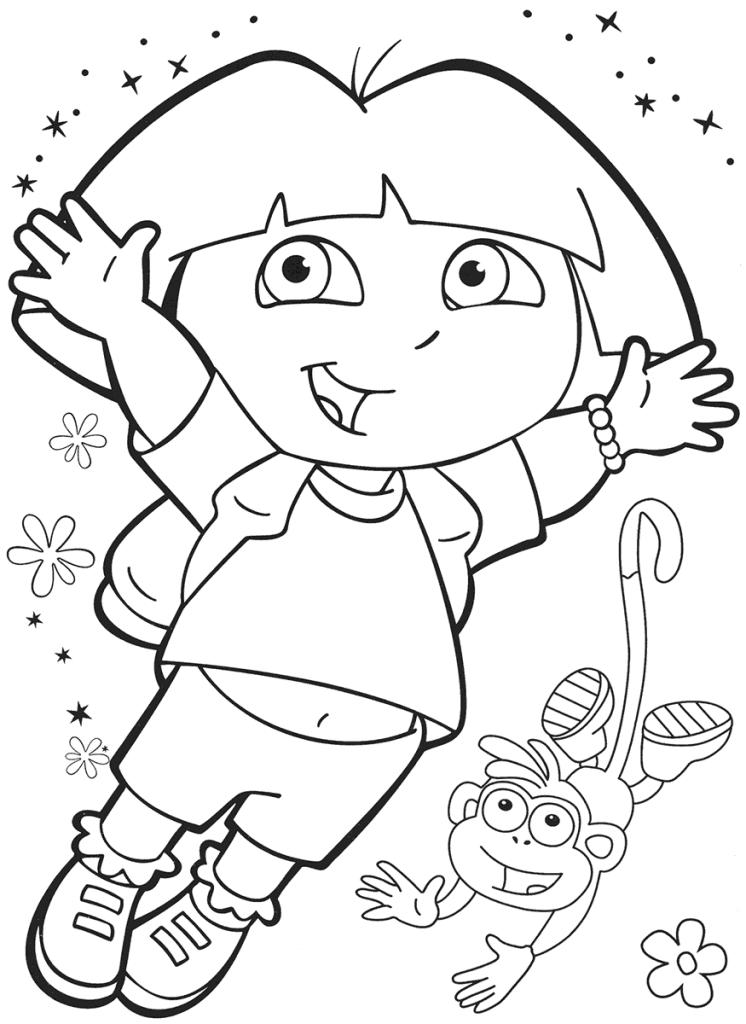 dora free dora the explorer free coloring pages coloringpages4kidz dora free
