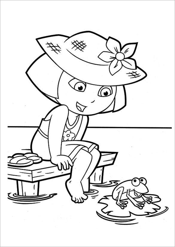 dora free free printable dora coloring pages for kids cool2bkids free dora