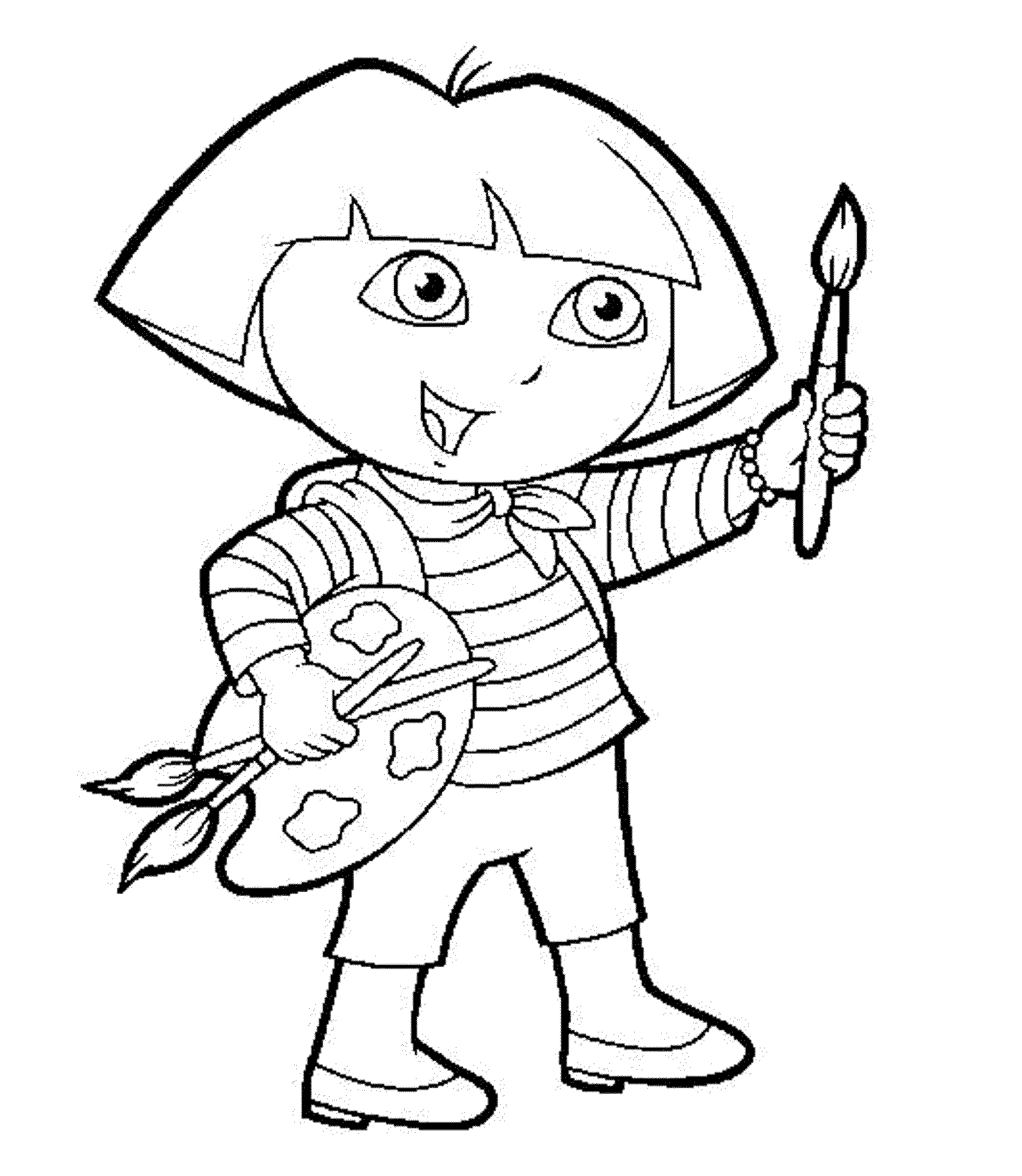 dora painting pictures free printable dora the explorer coloring pages for kids dora painting pictures