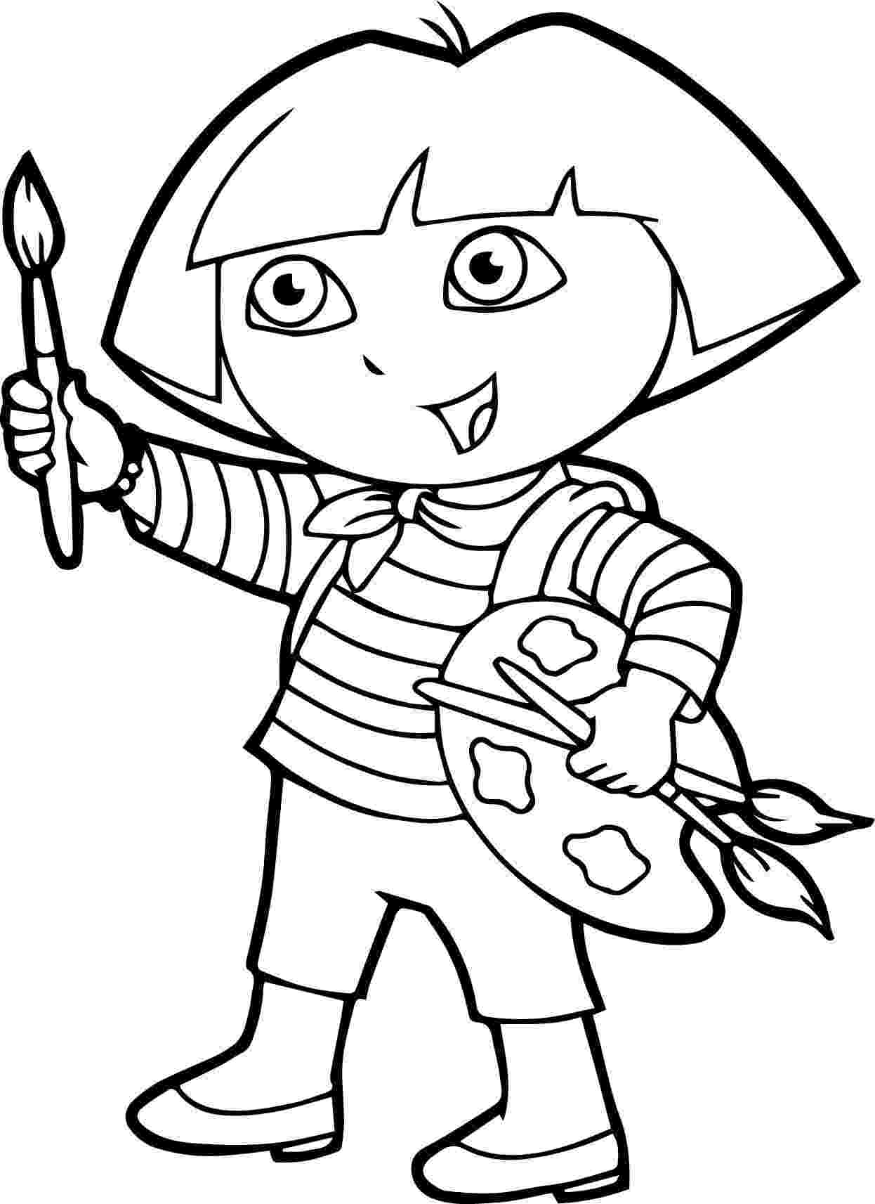 dora painting pictures print download dora coloring pages to learn new things dora pictures painting