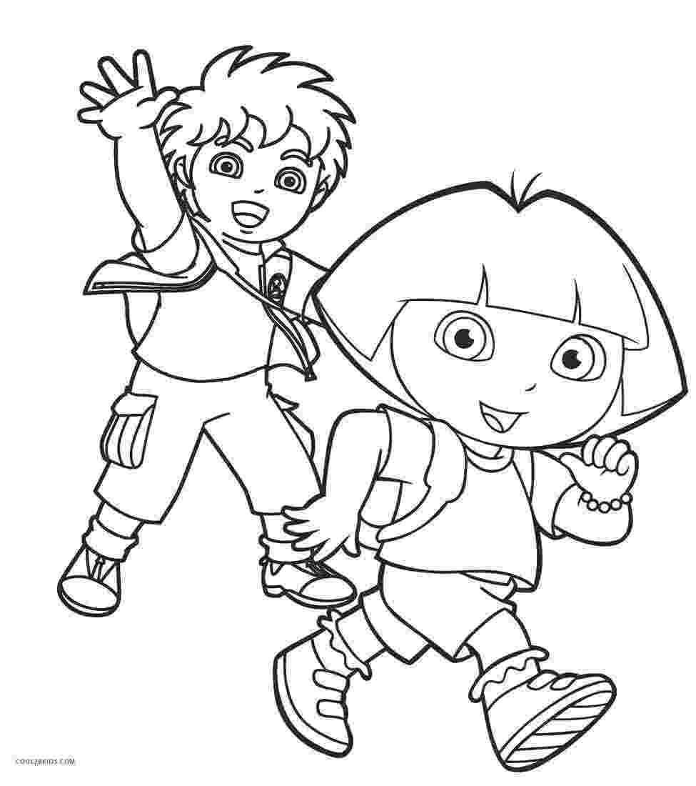 dora printing pages new printable coloring page with dora and monkey boots printing dora pages