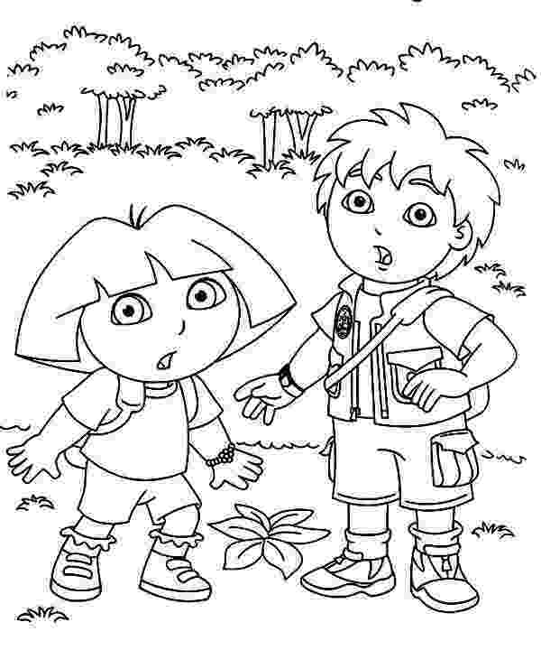 dora the explorer color pages free printable dora the explorer coloring pages for kids color explorer pages the dora