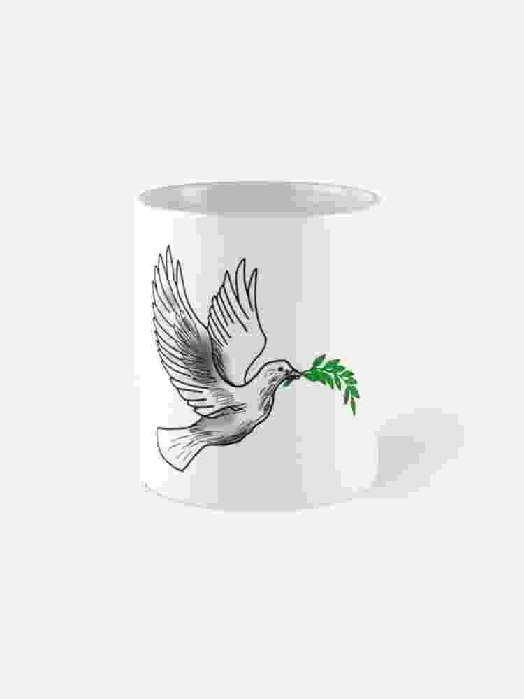 dove holding olive branch quotdove holding an olive branchquot standard mug by olive branch dove holding