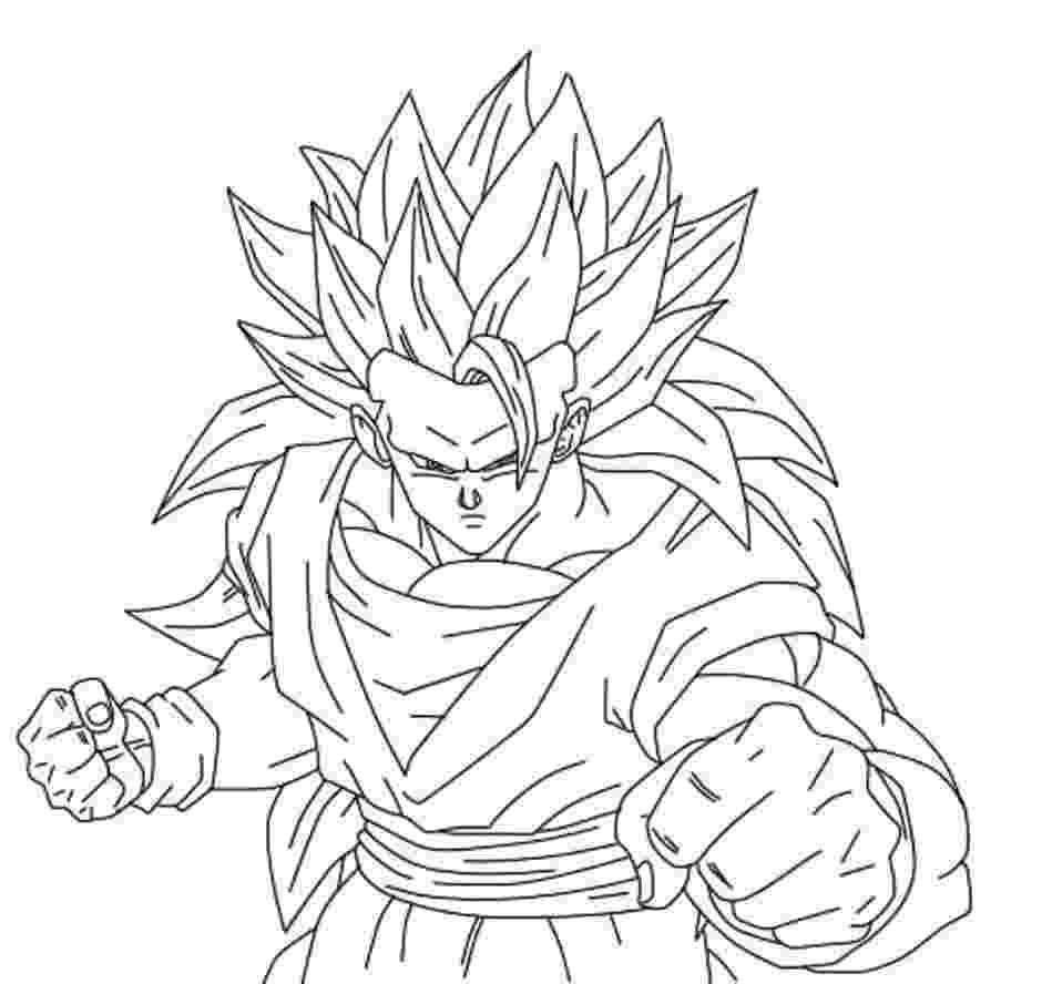 dragon ball z color dragon ball z gotenks coloring page coloring home dragon ball color z