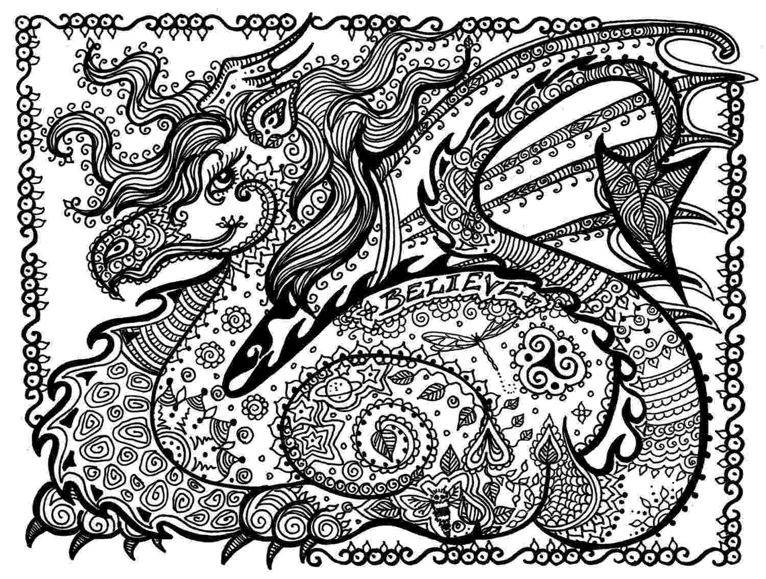 dragons coloring pages dragon coloring pages for adults to download and print for coloring dragons pages
