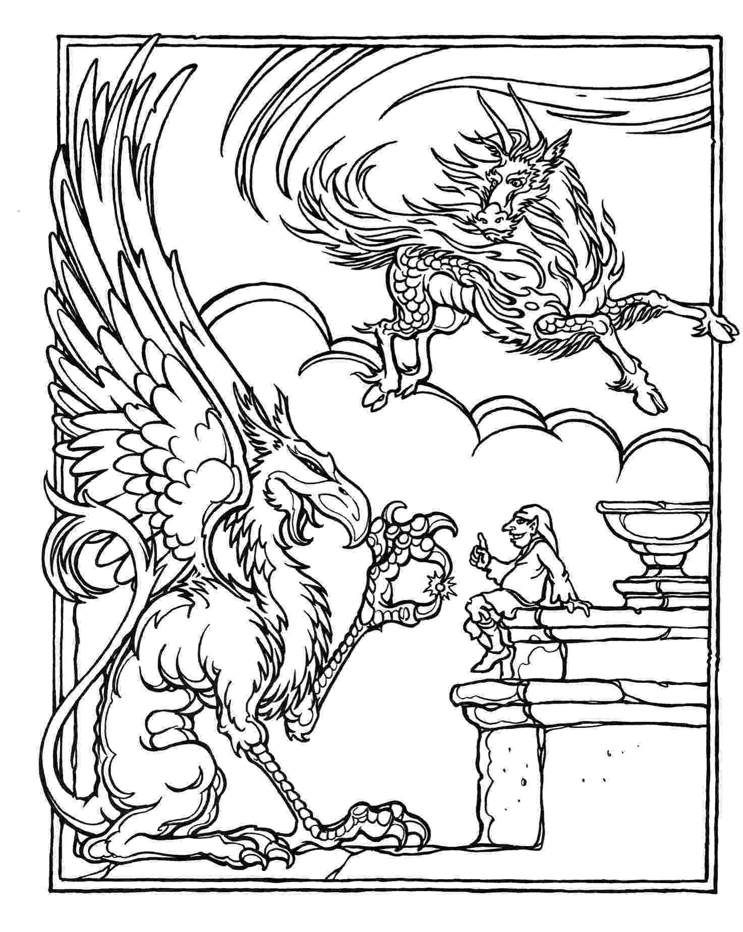 dragons coloring pages monster brains the official advanced dungeons and dragons dragons coloring pages