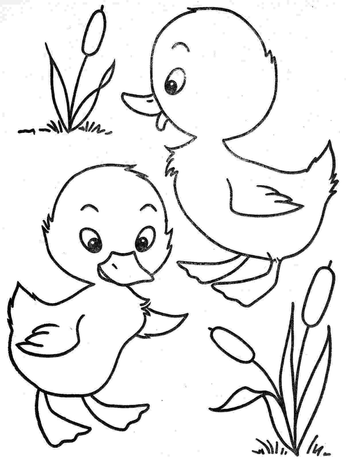 duck color sheet two little ducks embroidery patterns pinterest duck color sheet