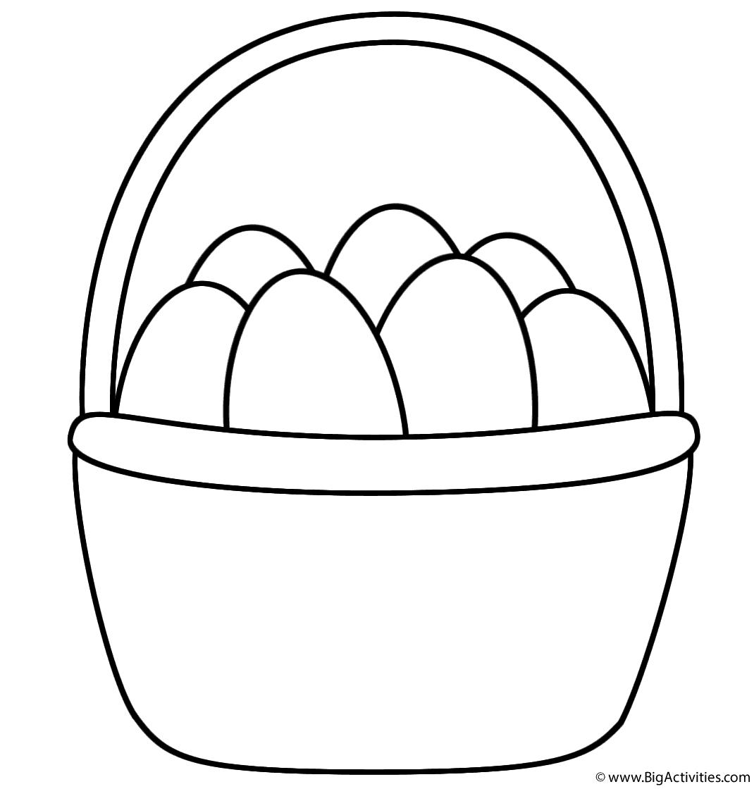 easter basket coloring sheet easter basket coloring pages getcoloringpagescom basket sheet coloring easter