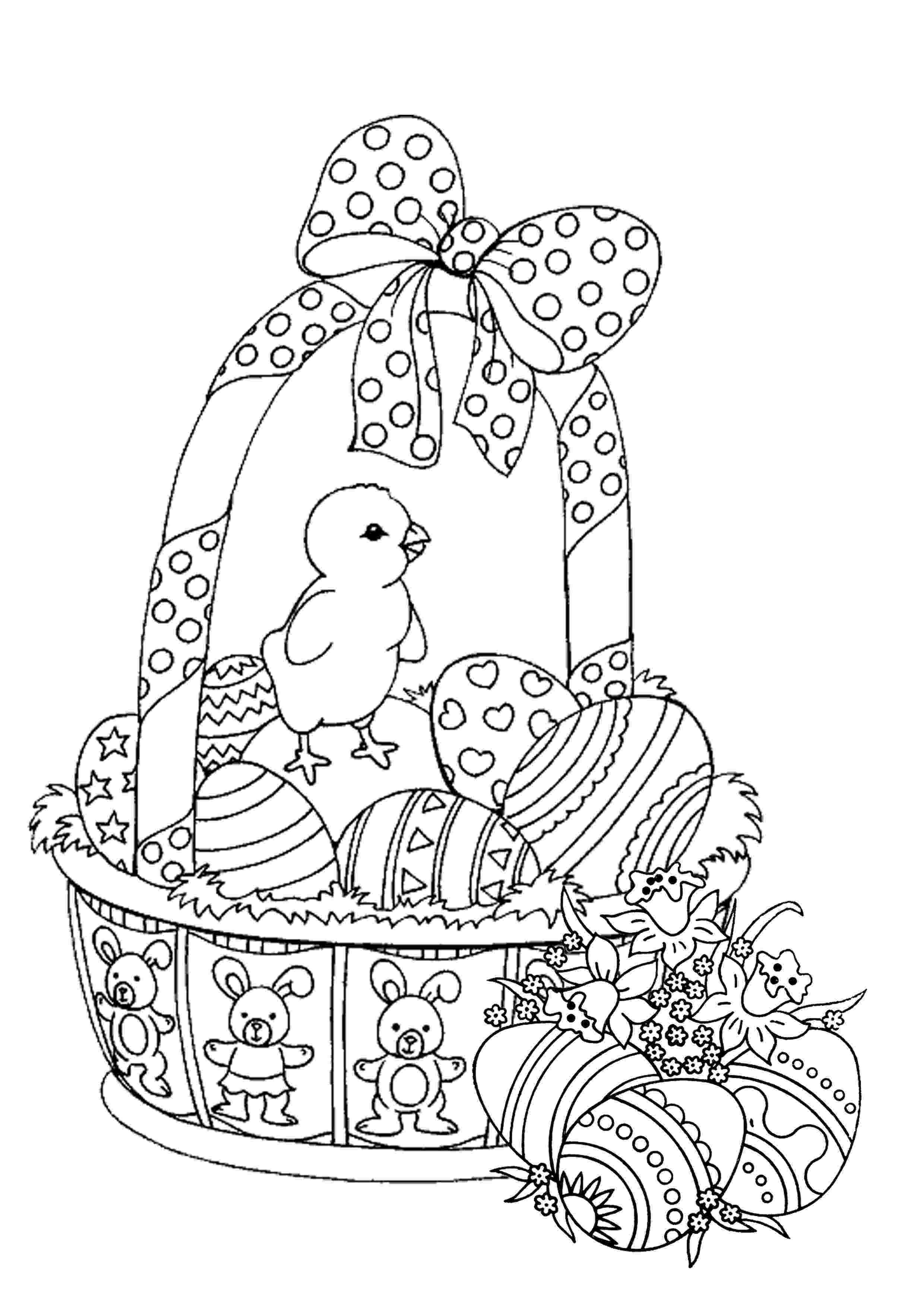 easter basket colouring easter basket coloring pages best coloring pages for kids colouring easter basket 1 3
