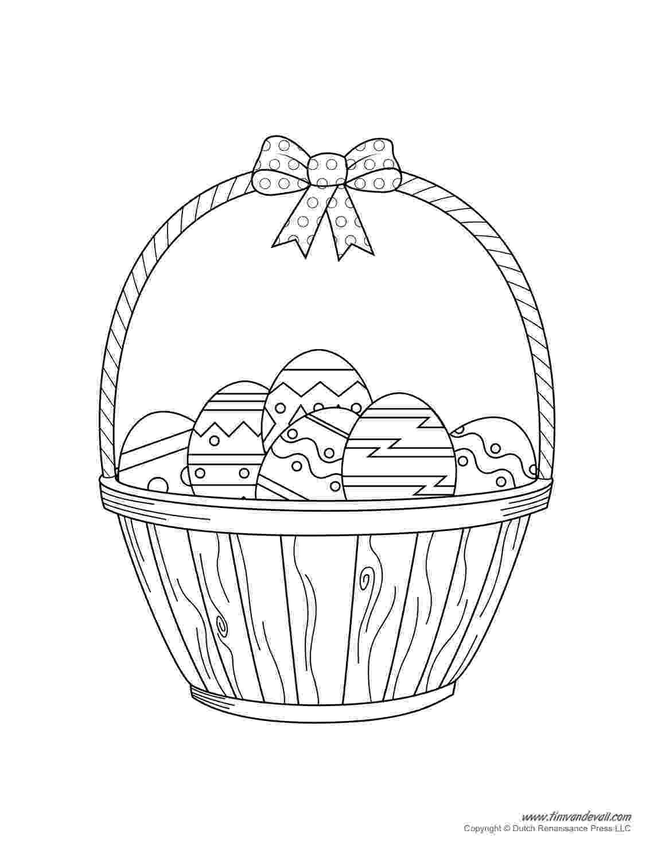 easter basket colouring easter basket coloring pages getcoloringpagescom basket colouring easter