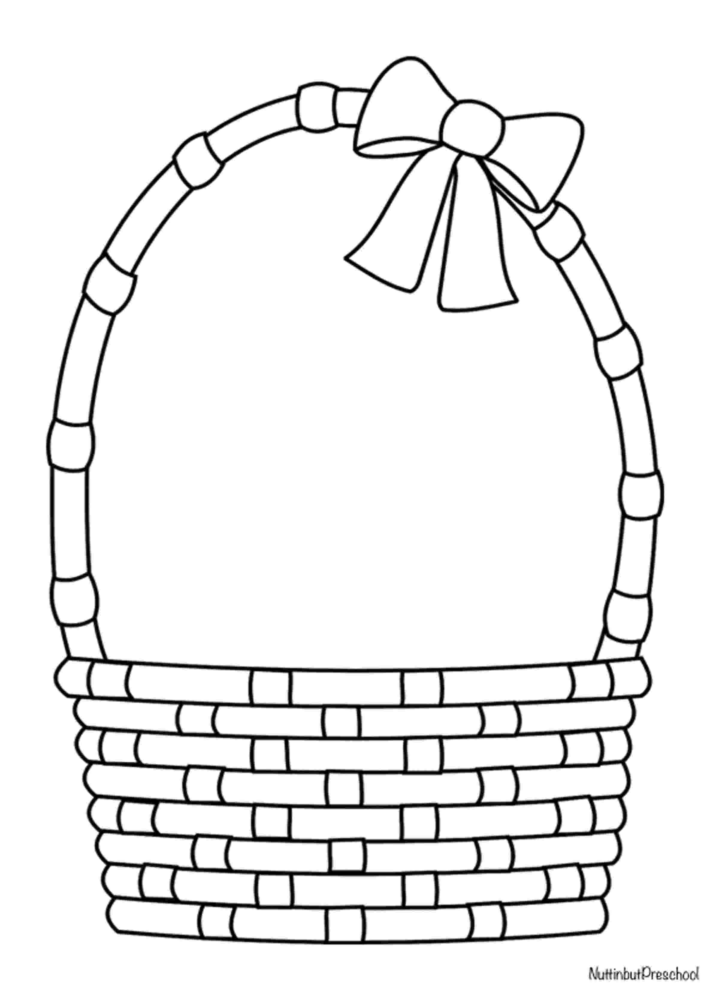 easter basket colouring easter basket pattern nuttin39 but preschool basket easter colouring