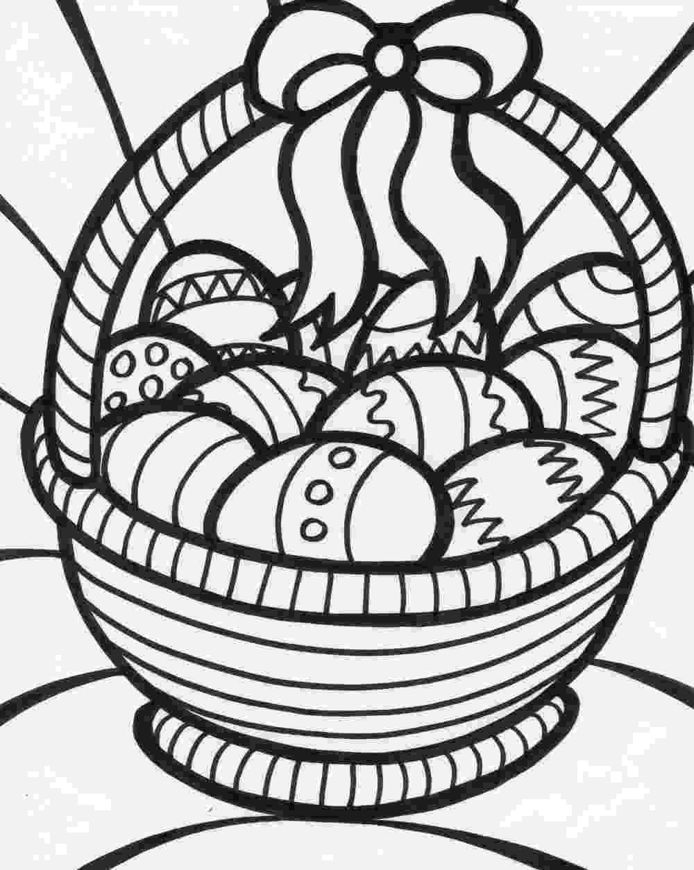 easter basket colouring easter online coloring pages page 1 basket easter colouring