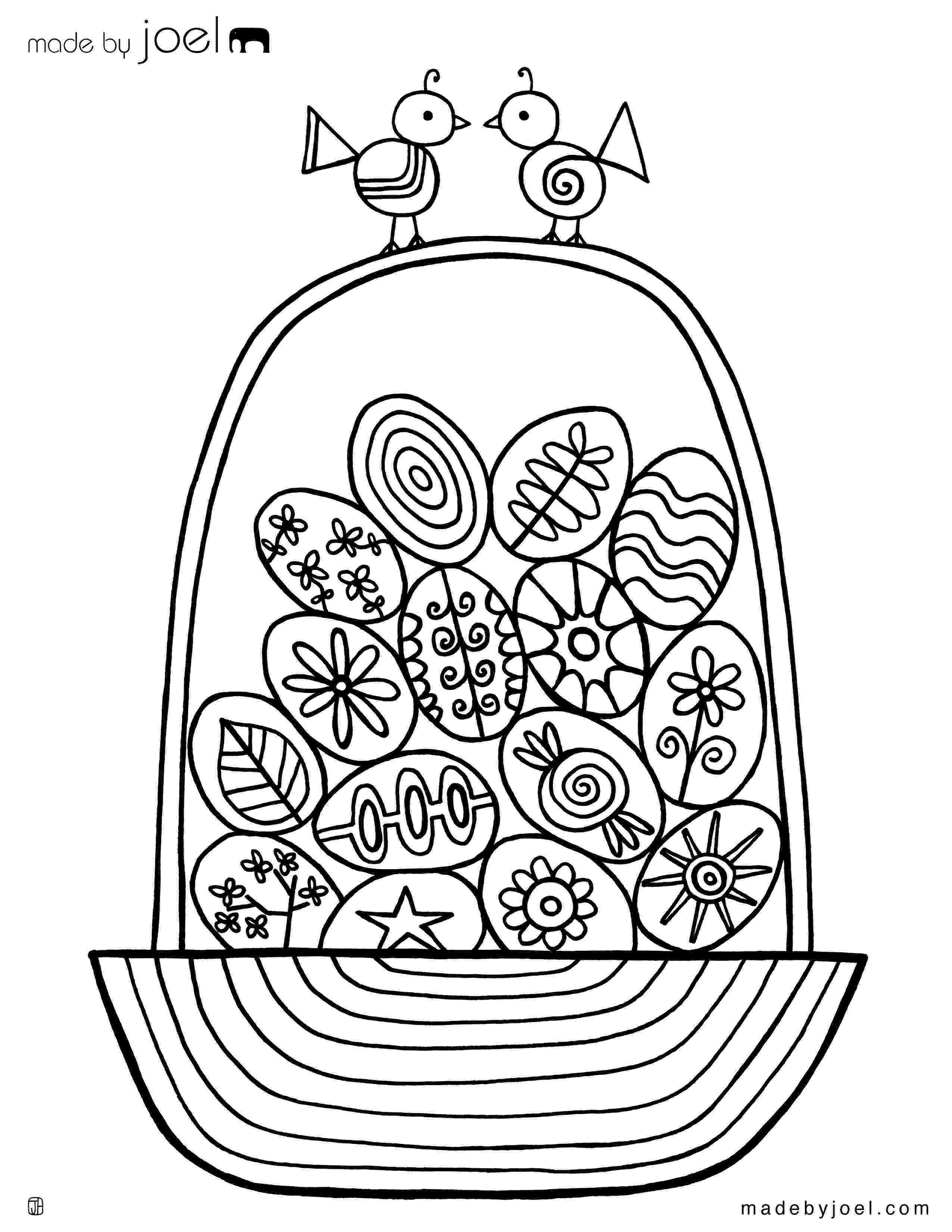 easter basket colouring free coloring pages colouring basket easter
