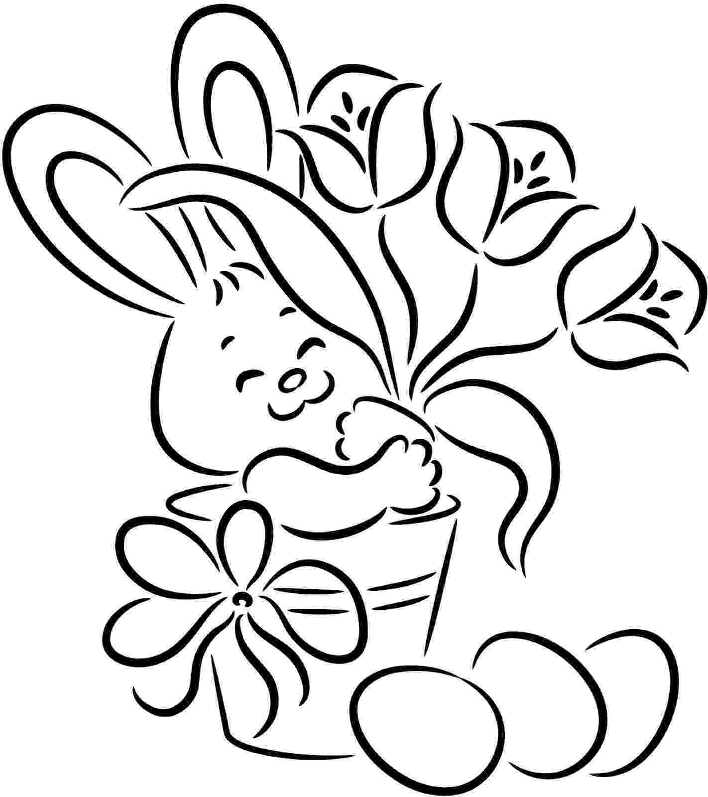 easter bunny coloring pages free printable easter bunny coloring pages for kids coloring bunny easter pages