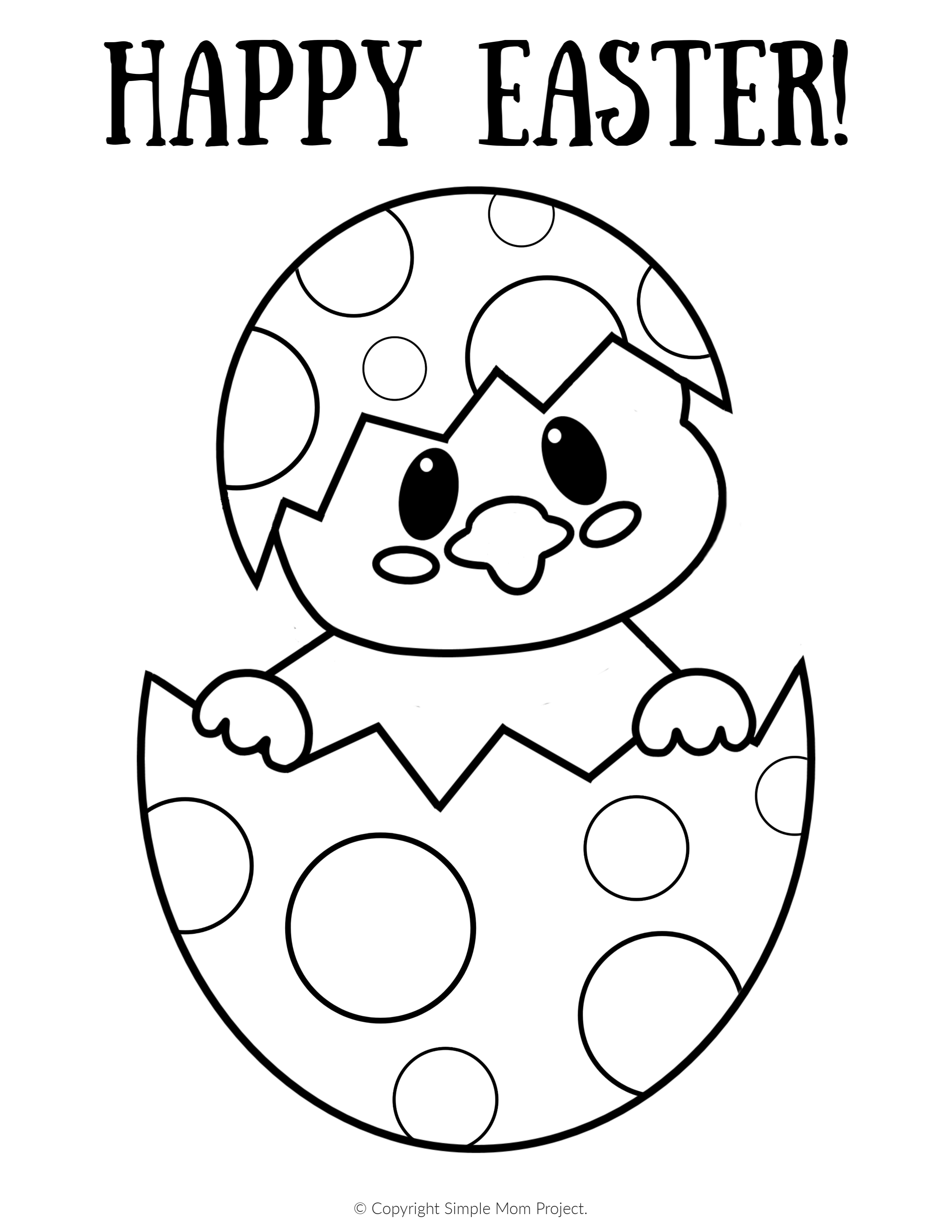 easter chick colouring cute chick coloring page easter template chick easter colouring