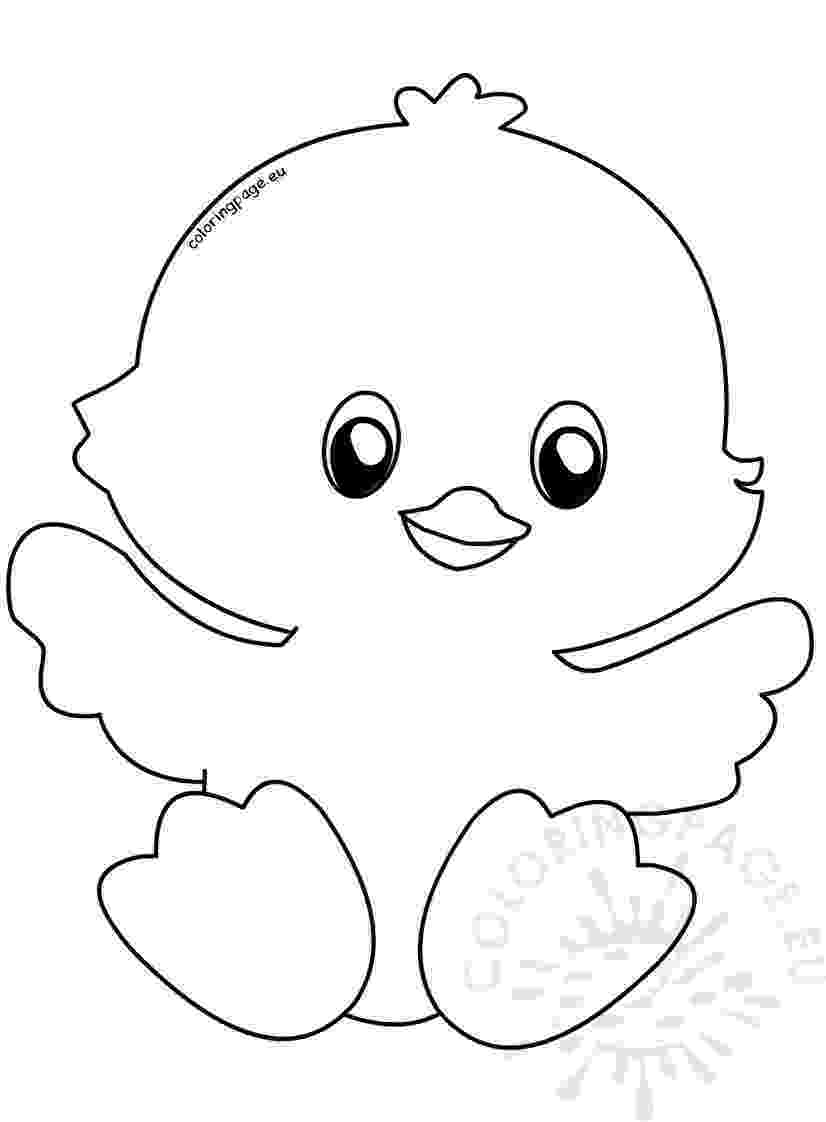 easter chick colouring cute happy easter chick coloring page chick easter colouring
