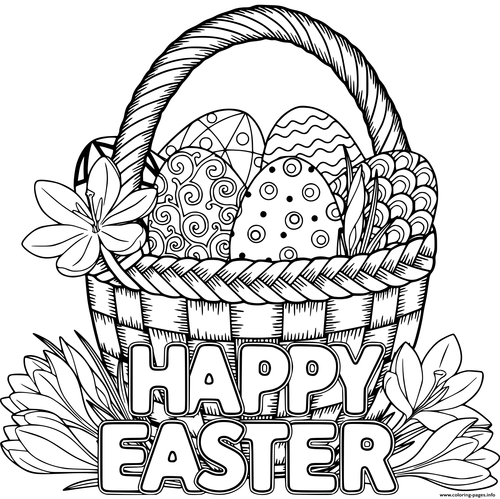 easter colouring pages printable for adults basket egg adult happy easter coloring pages printable for colouring pages adults printable easter